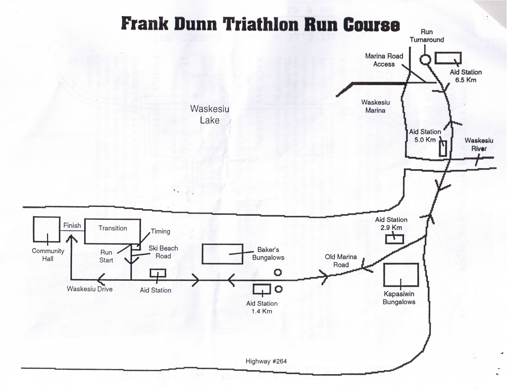 Frank Dunn Triathlon Run Map